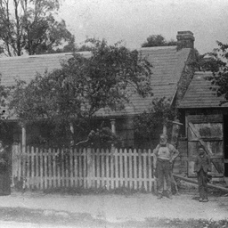 The Brown family outside their Willunga house and business