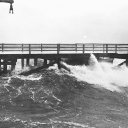 Henley Beach jetty after a storm
