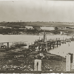Construction of the bridge at Nelson