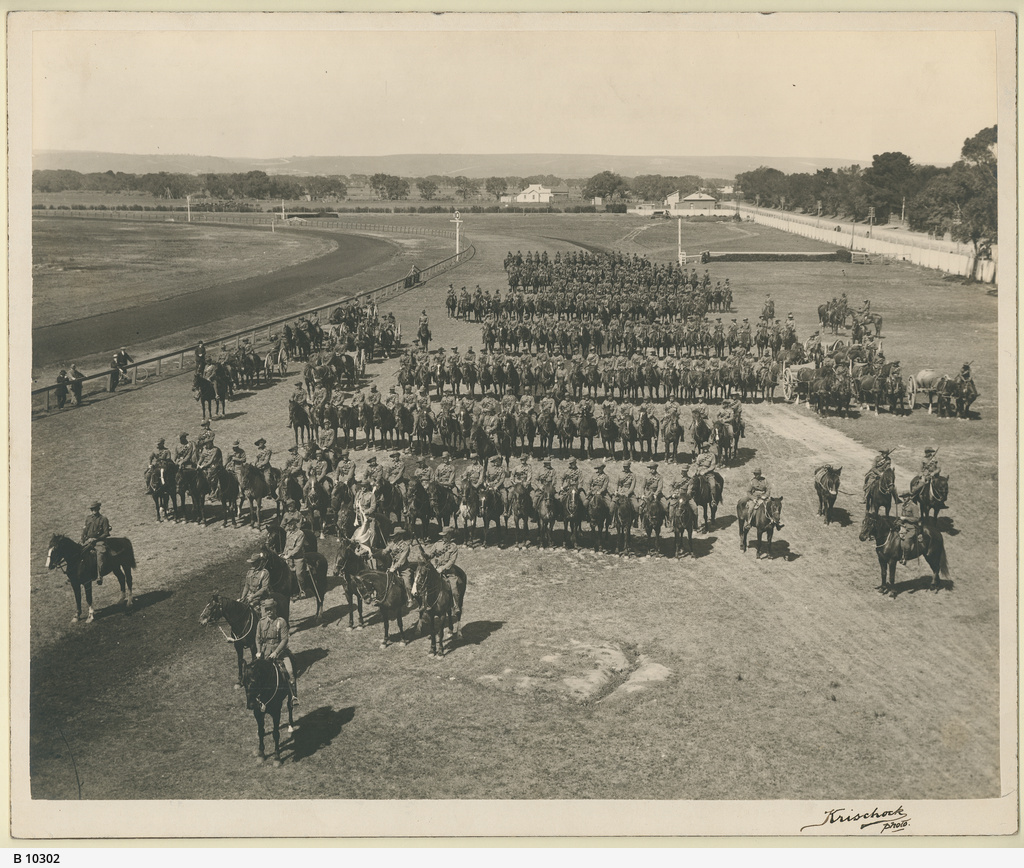 Light Horse Regiment on parade