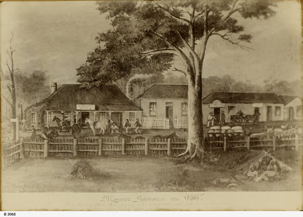 Art work depicting A. Mitchell's Hotel in Mount Gambier
