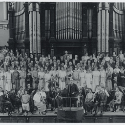Adelaide Harmony Choir and orchestra in Adelaide Town Hall
