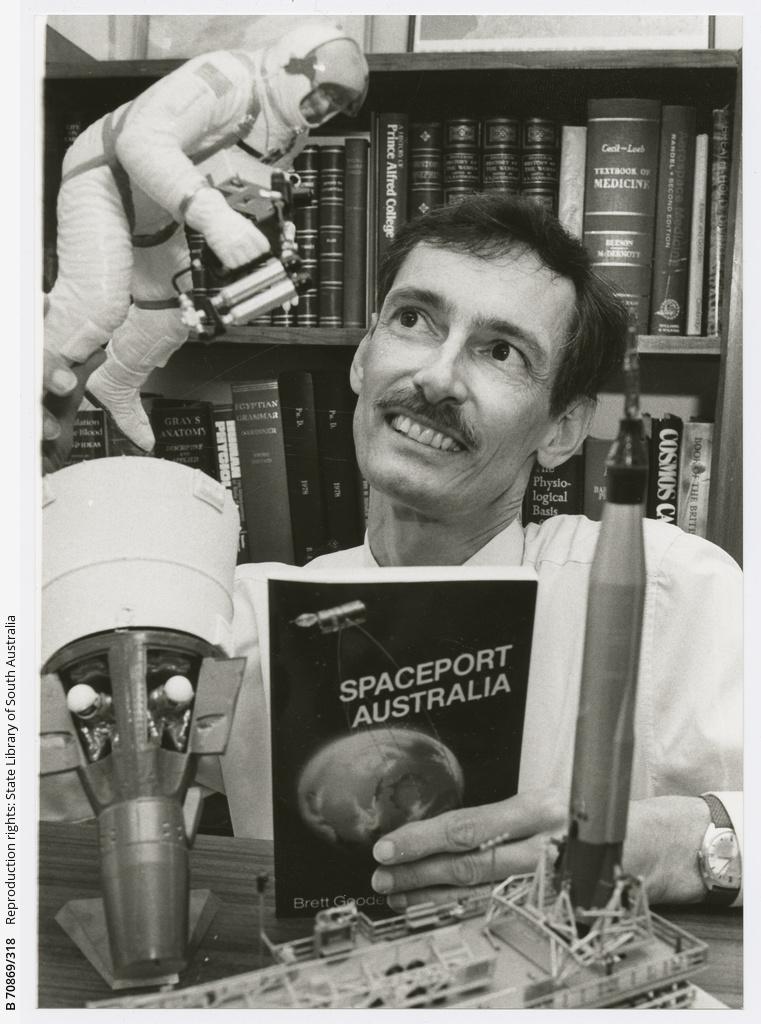 Dr. Gooden, Spaceport Australia. 18 April 1990.