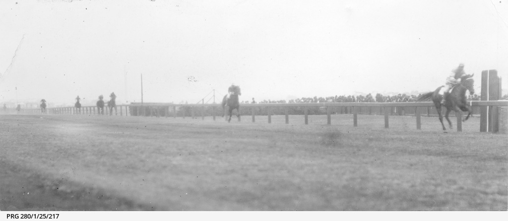 Finish of a horse race