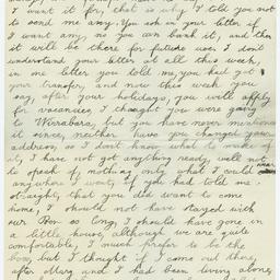 Letters written by Herbert Clough