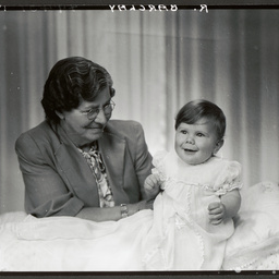 A grandmother and grandchild