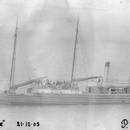 "The S.S. ""Argyle"" at sea"