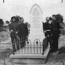 The grave of James Burt