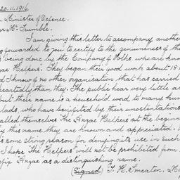 Keswick Hospital : Letter