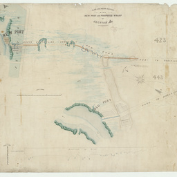 Plan and mean section of the road to the New Port and proposed wharf at Section 'A'[Port Adelaide] [cartographic material] / G.S. Kingston, Civil Engineer