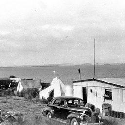 Ritchard's shack on the Coorong