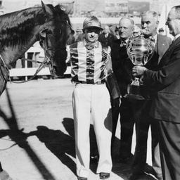 Presentation of Trotting Cup at Wayville