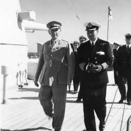 The Governor and Captain on 'Australia'