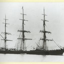 The 'British Merchant' at anchor