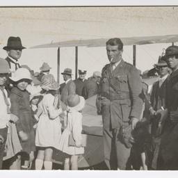 Lieutenant John McIntosh arriving in Longreach