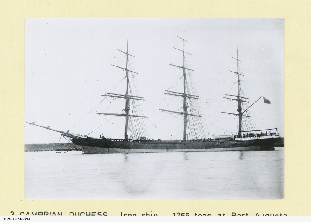 The 'Cambrian Duchess' at Port Augusta
