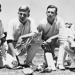 Four cricket players