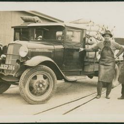 A Stevens & Boucaut truck with staff