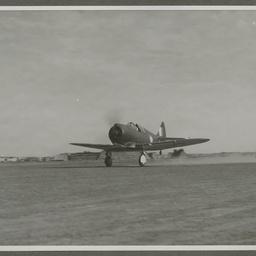 A46 CAC Boomerang taking off.