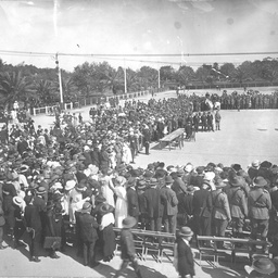 Presentation of medals on Anzac Day, Adelaide