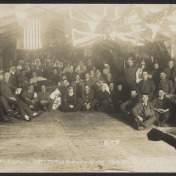Party for World War I soldiers