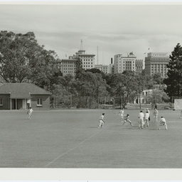 Cricket on the University Oval, Adelaide, South Australia
