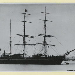 The 'Polmaise' moored in the River Thames, U.K.