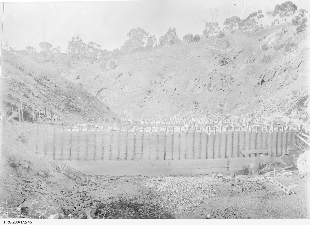 Construction in progress at the Barossa waterworks