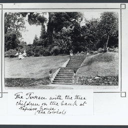 Terrace garden of Llanvihangel Court, Wales