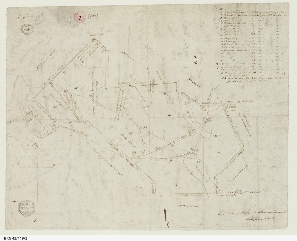 [Sketch of South Australian Company's run west of Mount Gambier] [cartographic material]