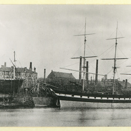 The 'City of Nankin' docked in an unidentified port