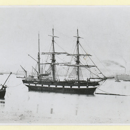 The 'Soblomsten' moored in an unidentified port