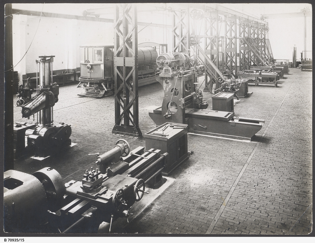 The machine shop with the 'scrubber' car