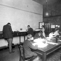 Office workers at their desks