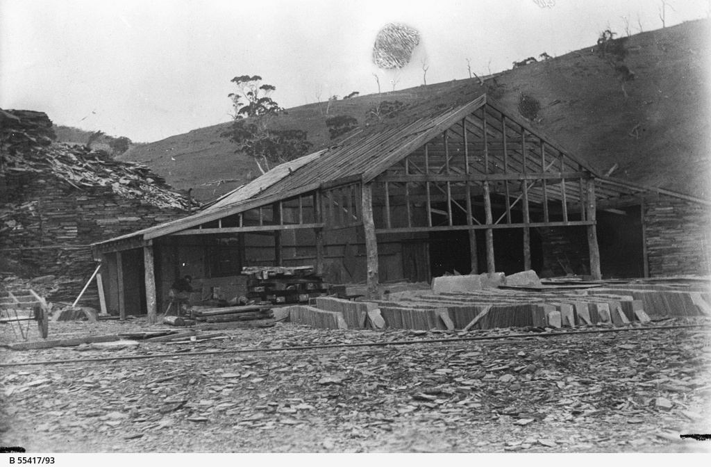Machinery shop at the Australian Slate Quarries