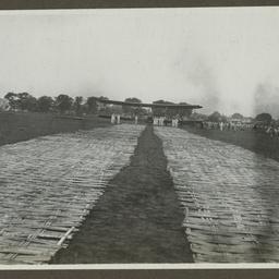Vickers Vimy on bamboo runway.