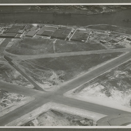 Aerial photograph of the Commonwealth Aircraft Corporation factory.