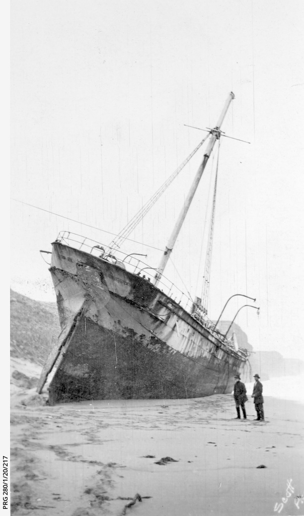 The 'Ethel', a barque wrecked at Reef Head, Spencer Gulf