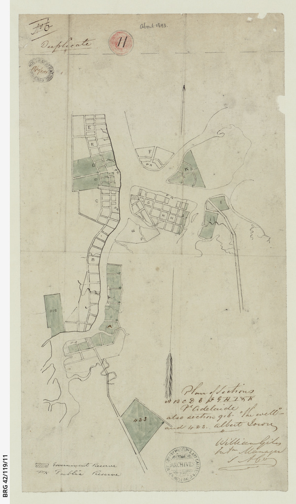 Plan of sections A - K, Port Adelaide [cartographic material]