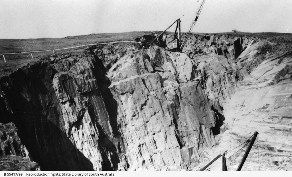 Crane at the Australian Slate Quarries, Willunga