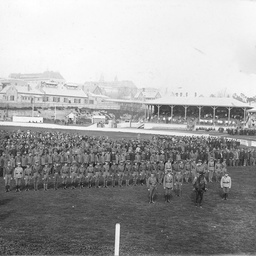 Army recruits on parade