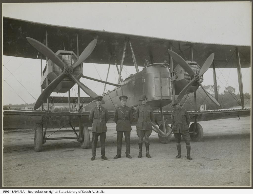 Vickers Vimy and crew.
