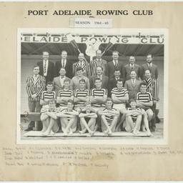Port Adelaide Rowing Club season 1964 to 1965.
