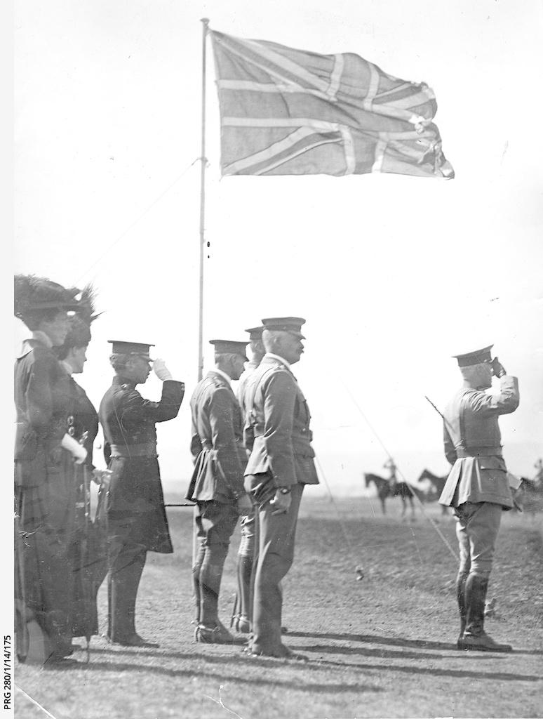 Sir Ronald Munro Ferguson taking a salute