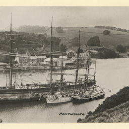 The 'Penthesilea' in Fowey Harbour, Cornwall UK