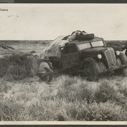 Still stuck in Mosquito Creek area - bogged truck on the Birdsville Track
