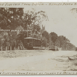 Papers and photographs relating to trams, roads and bridges at Fulham