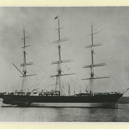 The 'Cimba' at anchor