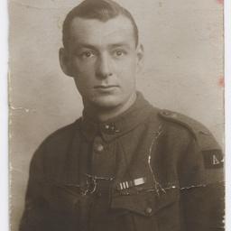 Portrait of soldier Glen