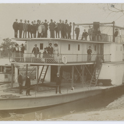 P.S. Ruby with the Morgan Town Band on board